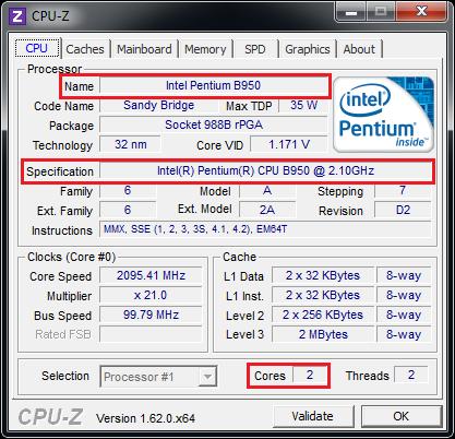 Как посмотреть свой процессор на windows 7