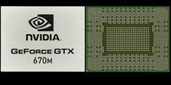 Фотография видеокарты GeForce GTX 670M